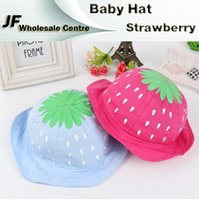 Cheap baby strawberry hat Best girls sun hat cute