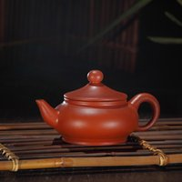 authentic chinese tea - Authentic Yi xing pot Chinese purple clay pot small kongfu tea set cc daily friend party use