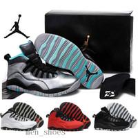 red bull - Nike dan Retro Bulls Over Broadway PSNY Men Basketball Shoes Nike dan AJ10 Retro X Sneakers J10s Red Black Jordans