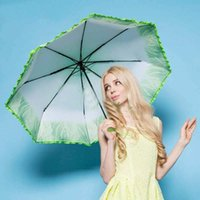 best fishing umbrella - best selling new the Novelty Items The Folding Parasol Rain Umbrella Green White Cabbage umbrella women ladies umbrellas
