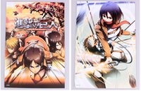 attack on titan poster - 48 Attack On Titan Characters Posters Anime Eren Mikasa Levi Stickers X29CM
