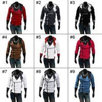 Wholesale Hot sale Assassin Creed Desmond Miles Coat Top Jacket Coat Assassins Creed Cosplay Coold Slim Men s Cosplay