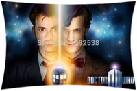 Wholesale TDavid Tennant Doctor Who Tradis Tv Series Large Sides Print Pillow Case Cover Holmes Pillow Cover gift star cotton
