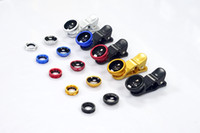 Wholesale Universal in Clip On Fish Eye Lens Wide Angle Macro Lens Camera kit for iPhone Samsung all phones