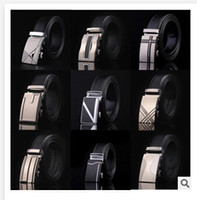 Wholesale BBA4022 P designs HOT Fashion belt MEN S Genuine Leather belts Waist Strap Belts Automatic Buckle Black leisure business leather belts