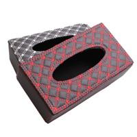 Wholesale Small Square Wine Red Tissue Box Vehicle Mounted Tissue Box Car Home Tissue Box Cover