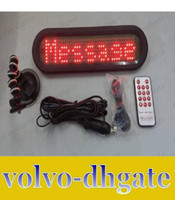 car led scrolling message - LAI1005 led remote car message sign screen display electronic scrolling message system remote control red color