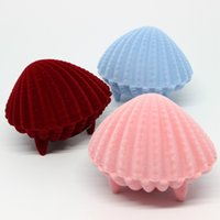 Cheap Seashell Ring boxes earring boxes necklace box brooch cases bracelet box jewelry packaging wedding gift boxes pendant Box Jewelry Pouches