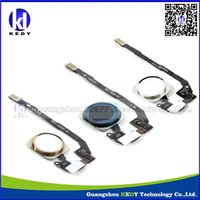 Wholesale For iphone s Home Button Ribbon Flex Cable Home Botton Assembly flex original gold silver black color