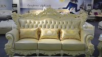 classic sofa - 2015 European wealthy sided carving palace luxury villa living room furniture sofa classic leather sofa