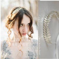 baroque dress style - 2016 the new foreign trade the bride became generous crown metal leaves a shiny silver collar baroque euramerican style hair dress accessori