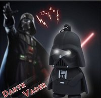 Wholesale Star Wars Darth Vader Keychain Accessories Sound Holder with Flash Light LED Creative Key Ring Gift Toy