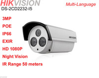 Wholesale HIKVISION DS CD2232 I5 HD P POE MP EXIR Outdoor IR m Bullet IP Camera