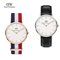 Wholesale 2015 Top Brand Luxury Style Daniel Wellington Watches DW Watches For Mens Leather Strap Military Quartz Wristwatches for womens Clock