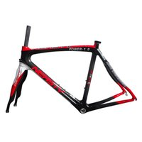 Wholesale Perfect Workmanship C Carbon Road Frame Fork Very Strong cm Bicycle Frame Bike Accessaries