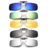 Wholesale Brand New Men Women Polarized Clip On Sunglasses Sun Glasses Driving Night Vision Lens Unisex Anti UVA Anti UVB Fashion