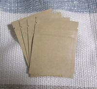 Wholesale 100pcs cm mini size Zipper top seal Kraft Paper Bag with Aluminum foil coated inner Powder Coffee bean Packaging bags