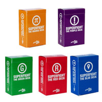 kids games and toys - 2015 SUPERFIGHT Ultimate Expansion Set Red Green Blue Purple and Orange Deck Expansions Superfight Card Game