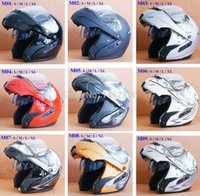 Wholesale dual Visors Top New Modular Flip Front Up Motorcycle Scooter Vespa Full Face Biker Integral Helmet S M L XL