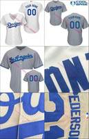 angeles girls - 30 Teams custom Authentic mlb Los Angeles Dodgers Girls Personalized Womens White grey LA Embroidery Cheap Baseball Jerseys stitched