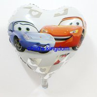 balloon cars - 50pcs inch heart shape cars balloons foil balloons helium ballons cartoon mylar balloon for party decoration