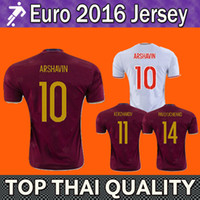 quality white shirts - Whosales New Top quality Russia Jersey home away Russian europe cup Arshavin Pavlyuchenko football shirt European soccer jerseys