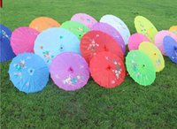 bamboo silk parasol - Hottest Sale Chinese style silk wedding umbrella color vintage umbrella dance umbrella bamboo cytoskeleton Fast Delivery New