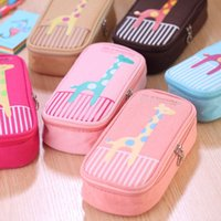 Wholesale Multifunctional Creative Large Capacity Pencil Bag PU Leather School Case Pencil Case Stationery School Supplies