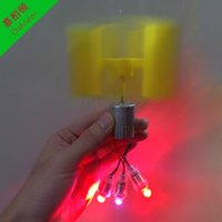 Wholesale LC1 DIY New type of vertical axis micro wind turbines Small dc wind turbines with E10LED lamp bead