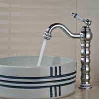 bathroom spout - And Retail Long Spout Chrome Brass Bathroom Basin Faucet Single Handle Hole Vanity Sink Mixer Tap Ceramic Style