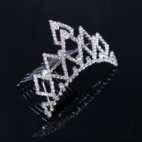 antique diamond tiara - Rhinestones Sparking Bridal Tiaras Crowns Romantic Crystals Hair Accessories For Wedding Crowns Diamond Shining Tiara Comb