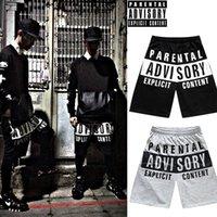 Wholesale FG1509 Men hiphop streetwear shorts Parental Advisory Sport basketball shorts summer casual running shorts mma shorts bermuda masculina
