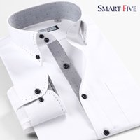 Wholesale 2015 one piece spring new arrival cotton easy care slim business casual white long sleeve male shirt