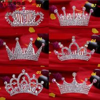 Wholesale 2015 New Children s Hair Accessories With rhinestone Hair Combs Tiaras Frozen Cinderella Crown Accessories
