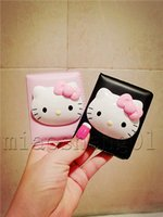 Wholesale HOT sale Hello Kitty Mirror cartoon KT cat Make up Mirror Young girls hello kittys Theme make up mirror