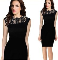 black pencil dresses - Exclusive Summer Dress Women Stretch Evening Party Casual Lace Slim Bodycon Pencil Dresses Vestidos Crochet Black and Navy