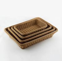 Wholesale Wicker storage baskets picnic basket zakka wire rustic basket fruit bread proofing basket decoration cm rattan easter basket for wedding