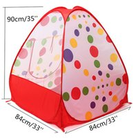 Wholesale Portable Children Kids Play Tents Folding Indoor Outdoor Garden Toy Tent Castle Pop Up House Multi function Gift