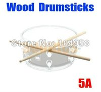 band music videos - 1 Pair Classic Musical Music Band A Size Wood Tip Wooden Drumstick Drum Sticks Drop Shipping order lt no track