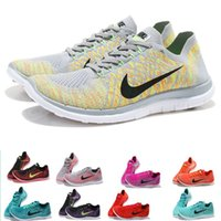 Wholesale Nike running shoes free V4 flyknit men and women sports running shoes sneakers men s walking outdoor shoes Tennis Shoes