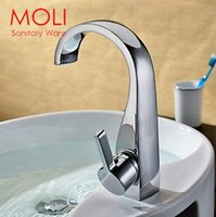 Wholesale Vessel sink faucet bathroom faucet basin mixer tap chromed brass for basin of bathroom