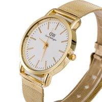 mens gold watches - High Quality Brand DW Watch Gold Mens Women Dress Watch Quartz Automatic Clock Daniel Wellington Watches