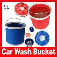 Wholesale 2pcs Car wash bucket car bucket miscellaneously garbage bucket small L bucket folding retractable