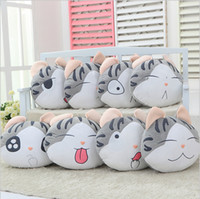 Wholesale cm chi s sweet home cheese cat pillow of small private sweet cat rice ball stuffed cat pillow cushion for leaning
