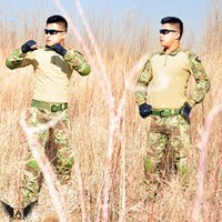 Wholesale uniform clothing army of the military combat uniform tactical pants with knee pads camouflage hunting clothes ghillie suit