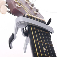 Wholesale New Arrival Acoustic Classical Electric Guitar Capo Made of Aluminium alloy Sliver or Black Guitar Accessories F0042