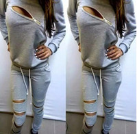 Wholesale NEW Women Casual Tracksuit fashion Brand Sweatshirt Jogging Pants Two set ladies Clothing Gray Sports Suit Zipper Tracksuits Sports Costumes