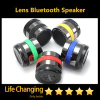 Cheap Camera Lens Super Bass Universal Bluetooth Speaker Wireless Speakers FM Radio TF Card Music Player For Tablets Phones MP3 Free Shipping DHL