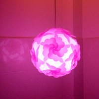 Wholesale New Price Princess Pink Candy Color Flower Lampshade DIY IQ Pendant Light Dia cm Plastic Material Lamp Shade
