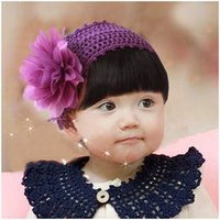 apparel for kids baby - Flower Elastic Baby Girls Headbands Fashion Headwear for children kids girl Cute Girl Apparel Accessories color mixed random